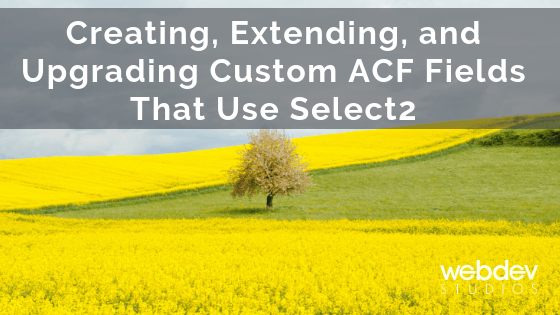 Creating, Extending, and Upgrading Custom ACF Fields That